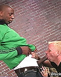 Gallery from Blacks on Boys! Gay Blond sucks black dick & assfucked cum facial