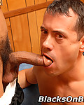 Gallery from Blacks on Boys! Interracial gay blowjob assfucking cums in mouth